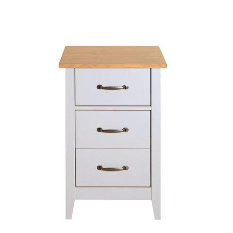 Norfolk Grey 3 Drawer Bedside Table