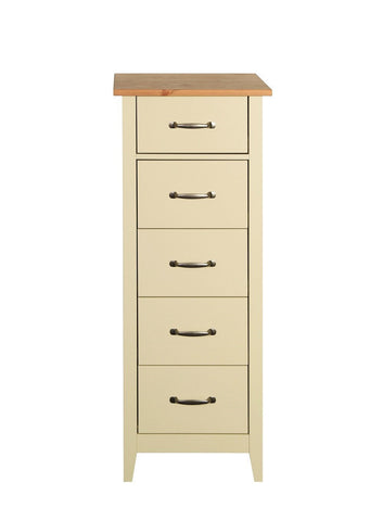 Norfolk Cream Tall 5 Drawers Chest