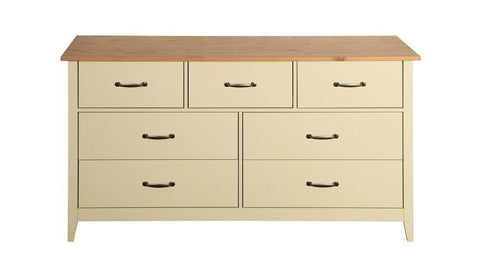 Norfolk Cream 3+4 Drawers Wide Chest