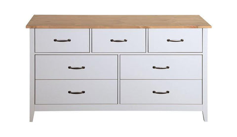 Norfolk Grey 3+4 Drawers Wide Chest