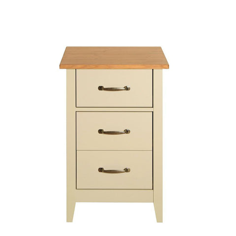 Norfolk Cream 3 Drawer Bedside Table
