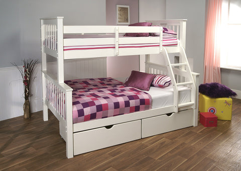 Pavo High Sleeper Bunk Bed In White