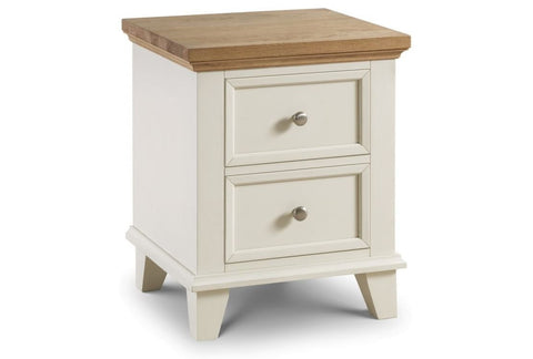 Portland 2 Drawer Bedside - Fully Assembled