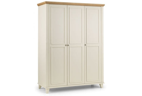 Portland 3 Door Wardrobe With Fitted Interior