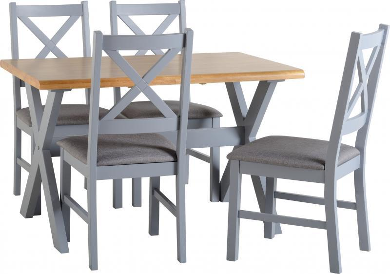 portland dining set in painted grey table 4 chairs