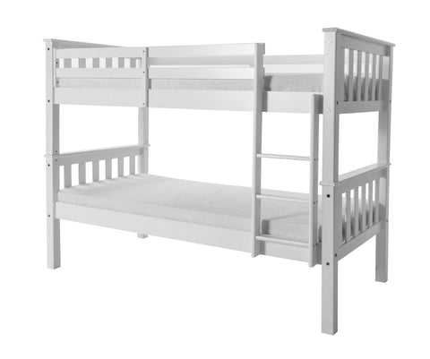 Porto Wooden Bunk Bed - Solid Pine