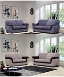 Richmond 3+2  Seater Sofa Set - Black/Grey & Brown/Mink