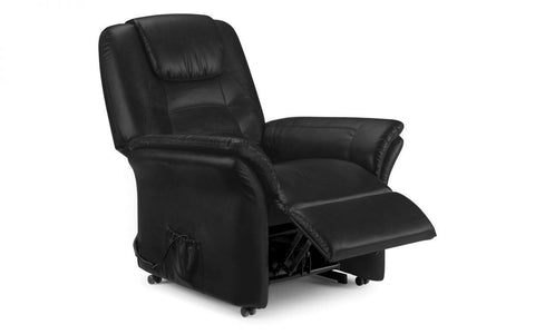 Riva Rise & Reclining Chair (Black or Brown)