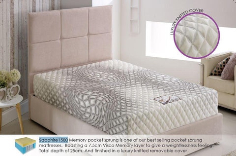 Sapphire 1500 Pocket Sprung Mattress - All Sizes