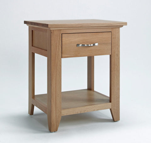 Sherwood Oak Lamp Table with Drawer - Fully Assembled