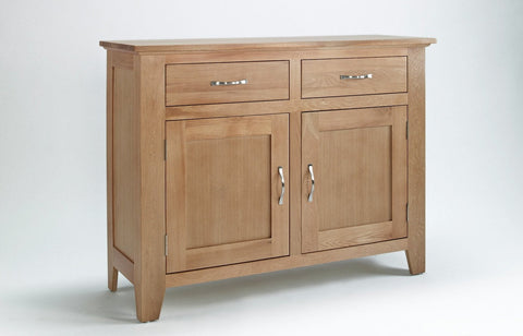 Sherwood Oak Sideboard 2 Door 2 Drawer - Fully Assembled