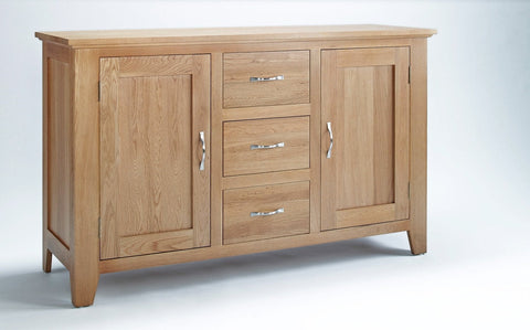 Sherwood Oak 2 Door 3 Drawer Sideboard - Fully Assembled