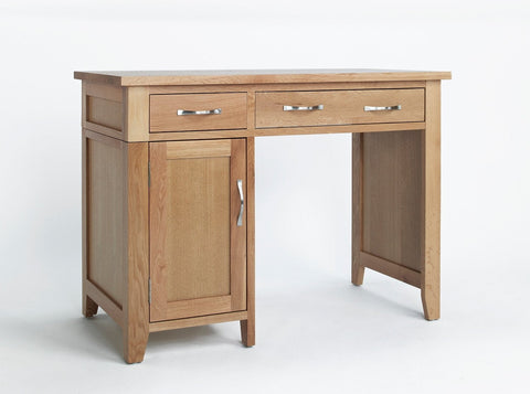 Sherwood Oak Single Pedestal Desk Table - Fully Assembled