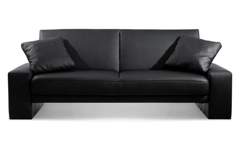 Supra Faux Leather Sofa Bed - Black & Brown