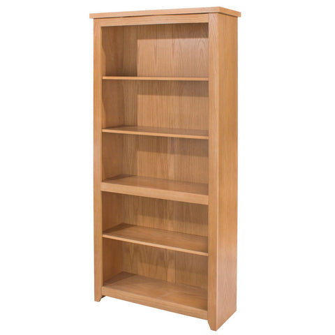 Hamilton Lacquered Oak Veneer Tall Bookcase