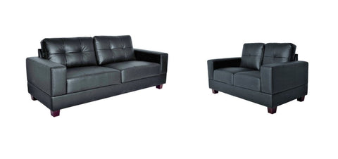 Utah 3+2 Sofa Suite - Black & Brown