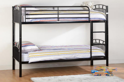 Ventura Black Metal 3ft Bunk Bed