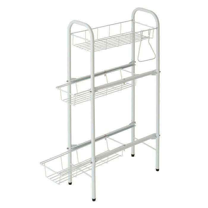 HEIAN SHINDOWashing machine side rack with white adjuster CW-86