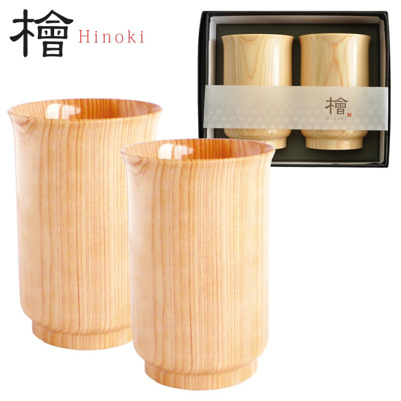 Yamaco Sytlish Hinoki glass 2P set (180ml)