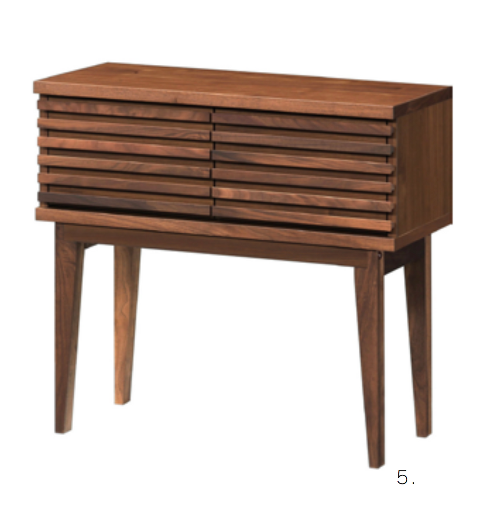 Time Walnut(WN Color) 79 Console Table