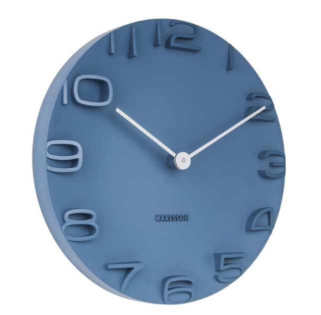 Karlsson Wall Clock  On The Edge (Blue)