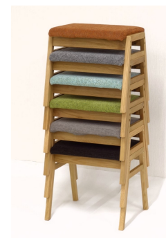 1-Style URBAN Stacking Stool With Cover