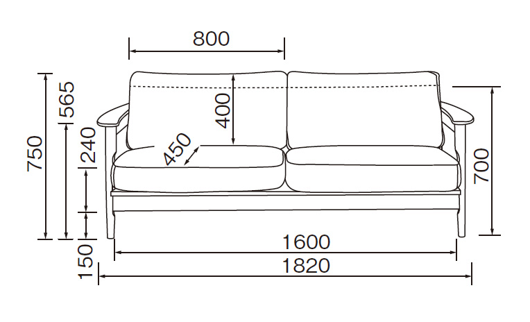 Home Day LS-449 3P Sofa