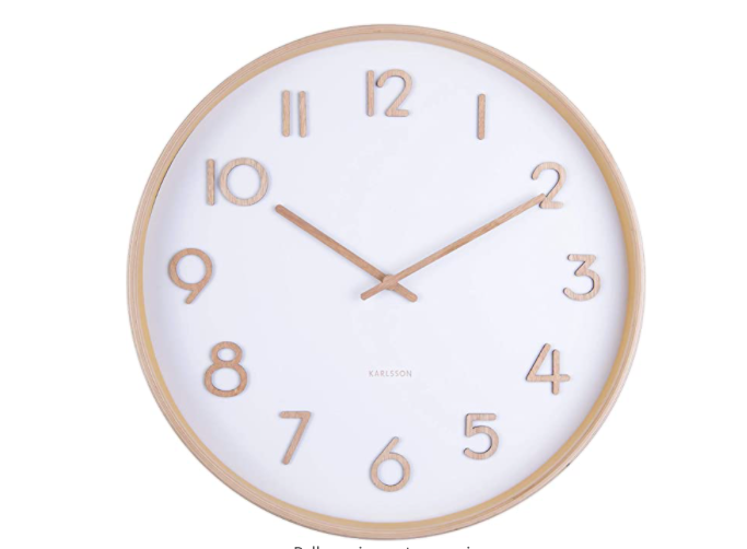 Karlsson Wall Clock Pure Medium - White (M)
