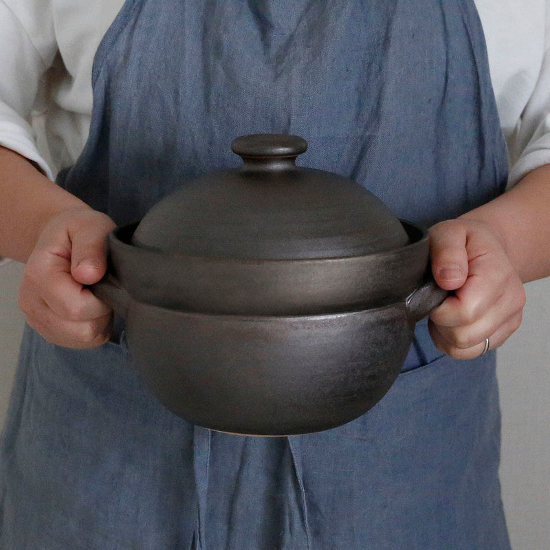 萬古焼 (Banco-yaki) Rice Pot