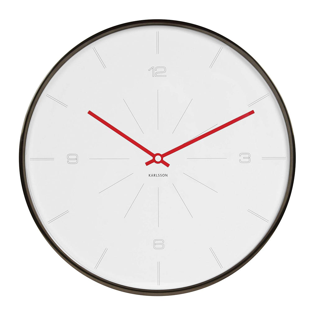 Karlsson Wall Clock Thin Line Numbers (WH)