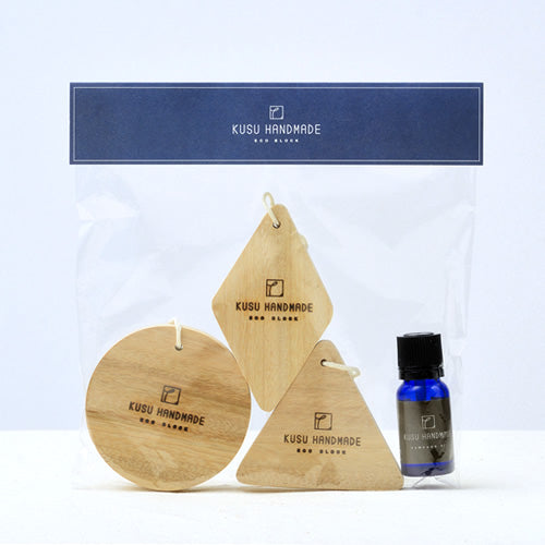 Hanging Eco Block 3-Piece Set with Camphor Oil 10ml 1 Bottle