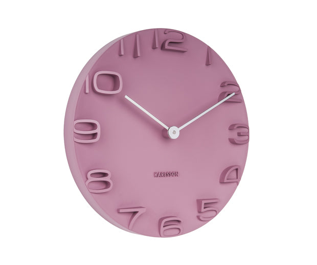 Karlsson Wall Clock On the Edge (Pink)