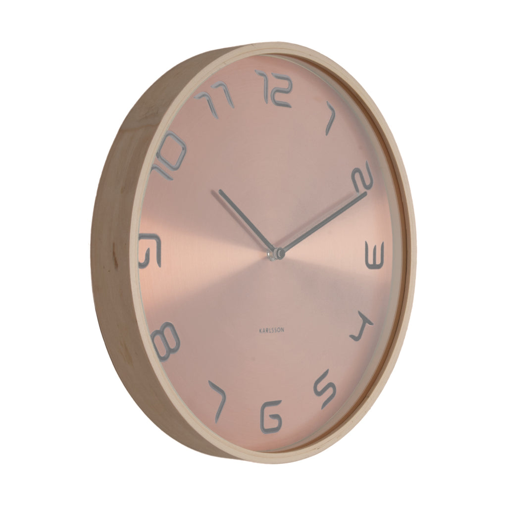 Karlsson Wall Clock Bentwood (Copper)