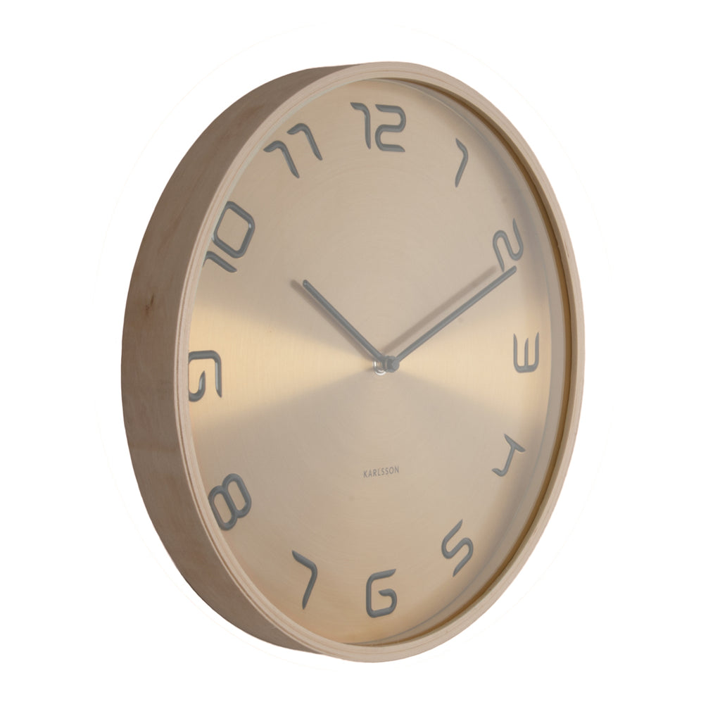 Karlsson Wall Clock Bentwood (Gold)