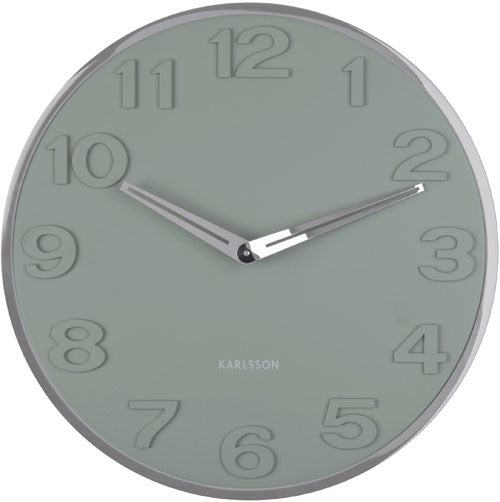 Karlsson Wall clock New Original Numbers (Jungle Green)