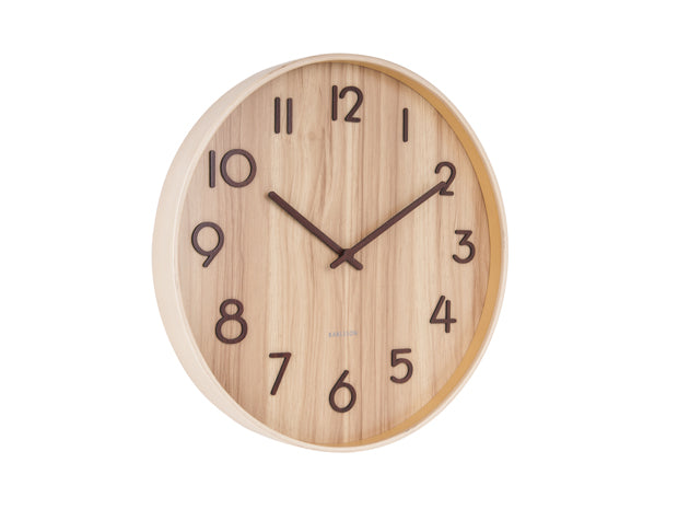 Karlsson Wall clock Pure Medium - Light Wood(M)