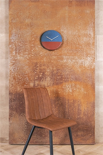 Karlsson Wall Clock Leather & Jeans(Blue)