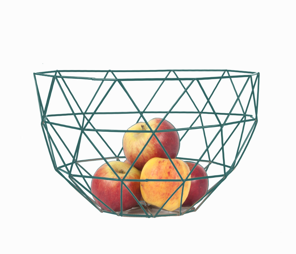 Fruit bowl set Linea metal pine green Set
