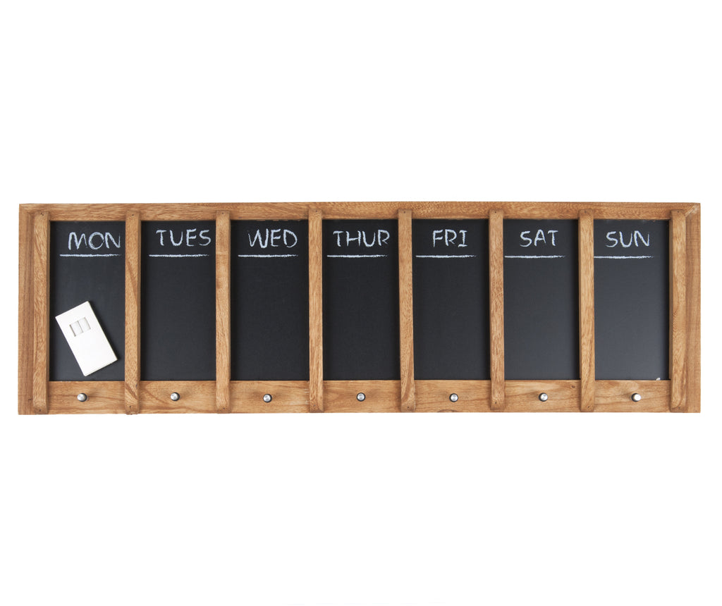 Chalkboard weekplanner wood