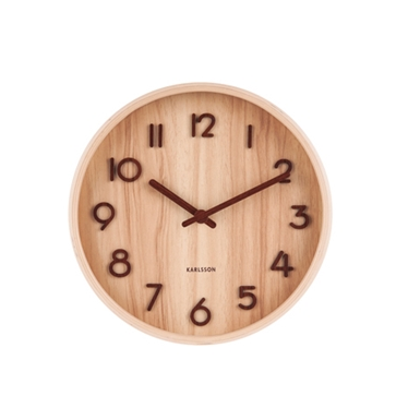 Karlsson Wall Clock Pure Small - Light Wood (S)