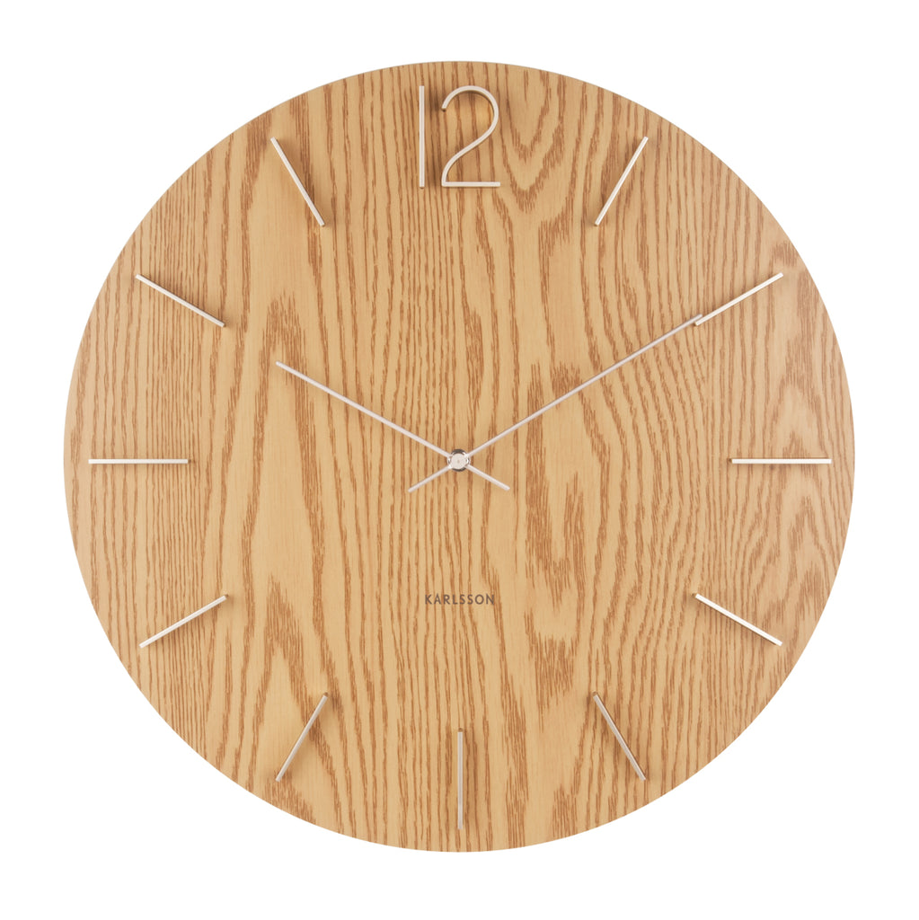 Karlsson Wall Clock - Meek (Light Wood)