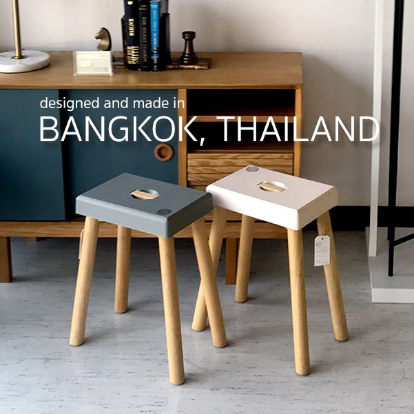 Boxed Stool Chair