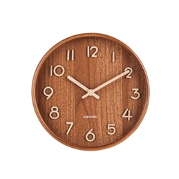 Karlsson Wall Clock Pure Small - Dark Wood (S)