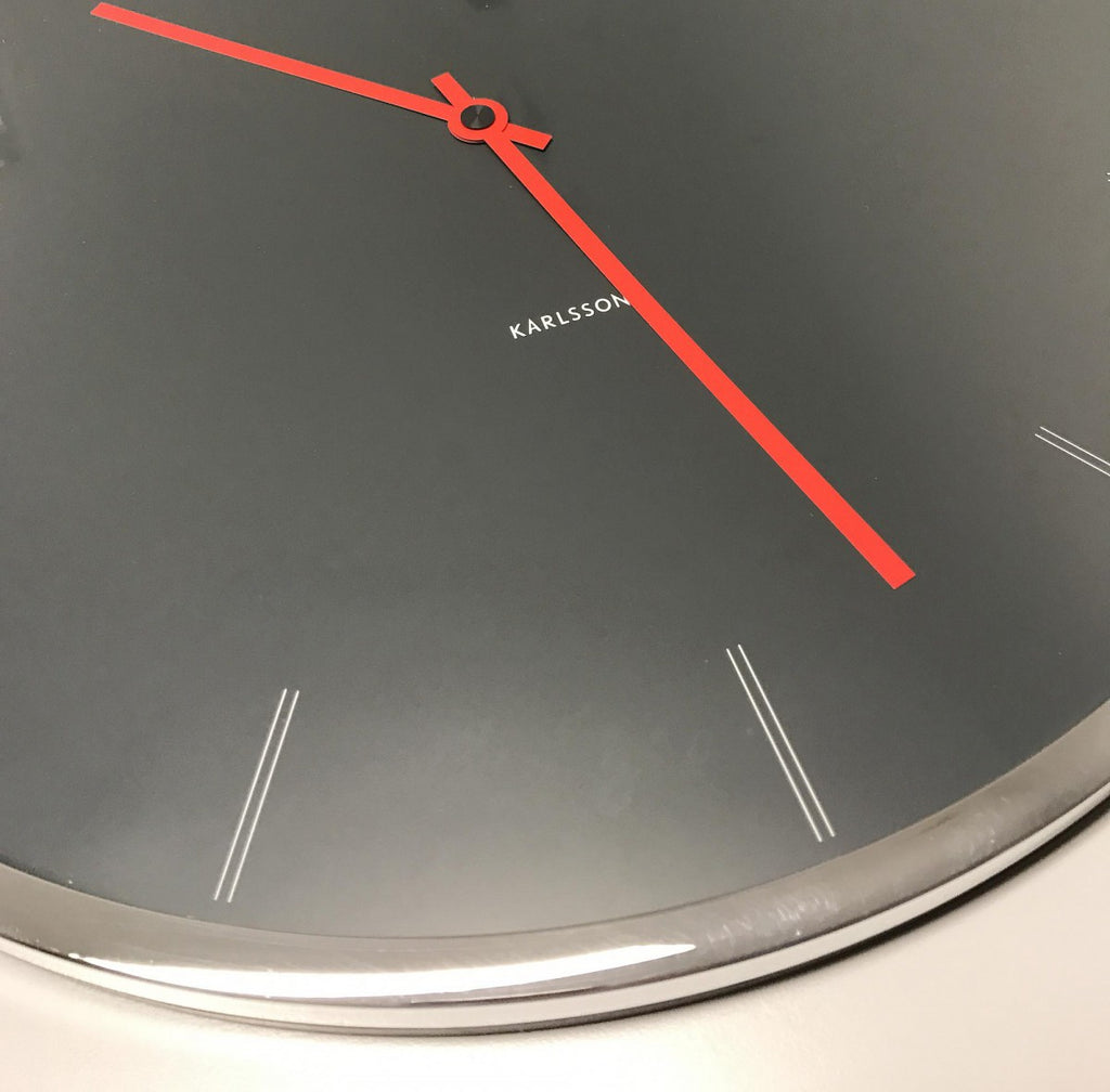 Karlsson Wall Clock Thin Line Numbers (GY)