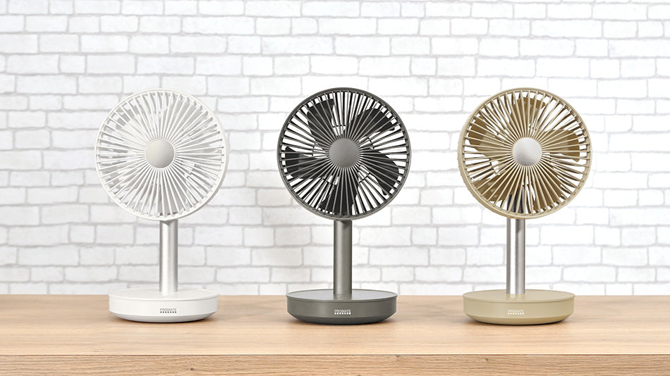 PRISMATE Cordless Mini Living Fan with mobile battery function PR-F038