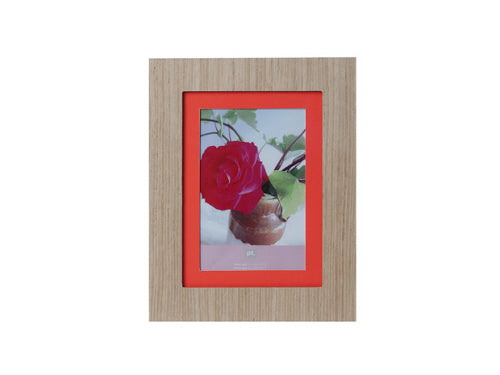 Photo frame Savannah fluor orange