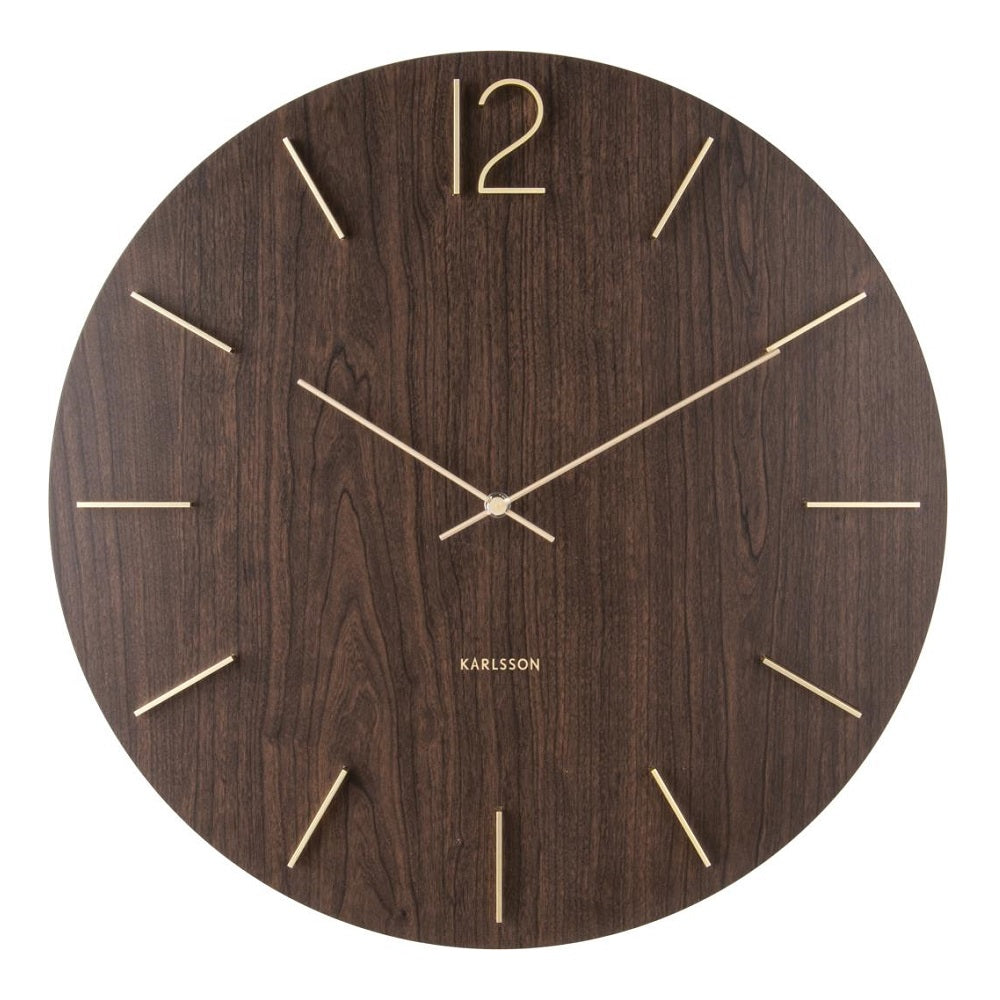 Karlsson Wall Clock - Meek (Dark Wood)