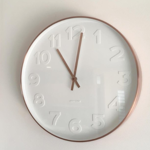 Karlsson Wall Clock Mr. White (Rose Gold)