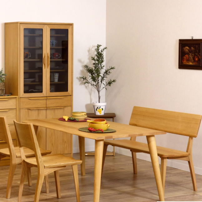 1-Style GAIA Dining Table (Oak Wood)