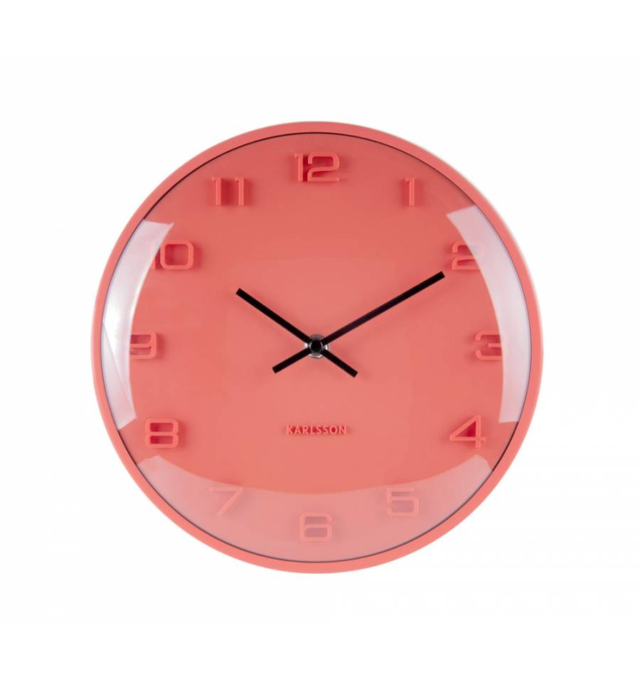 Karlsson  Wall Clock Elevated (Orange)
